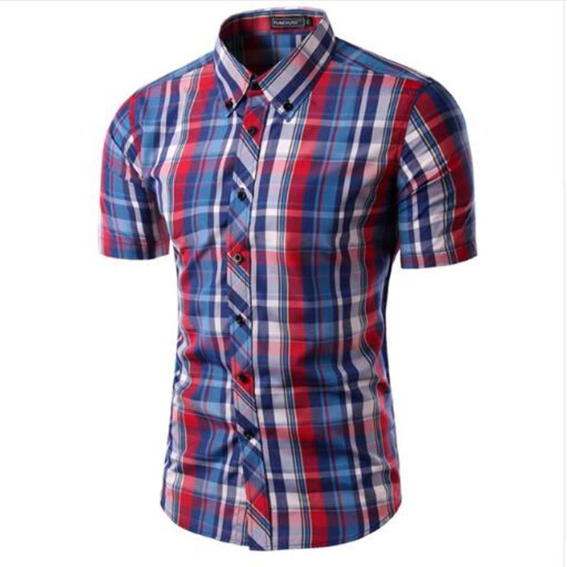 Mens plaid shirt camisas 2016 new arrival men 39 s fashion for Mens casual plaid shirts