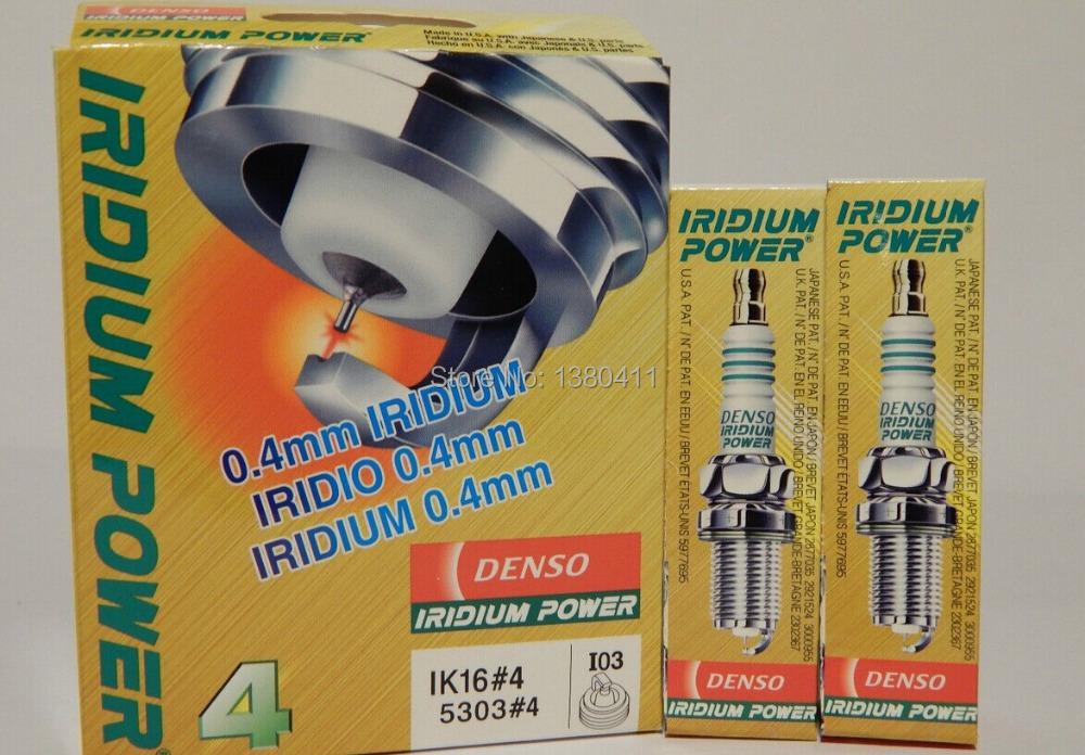 NEW 4pcs DENSO IRIDIUM POWER IK16 Spark Plug Performance/Racing/Tuned/Turbo for BUICK,TOYOTA,CHEVROLET,MITSUBISHI(China (Mainland))
