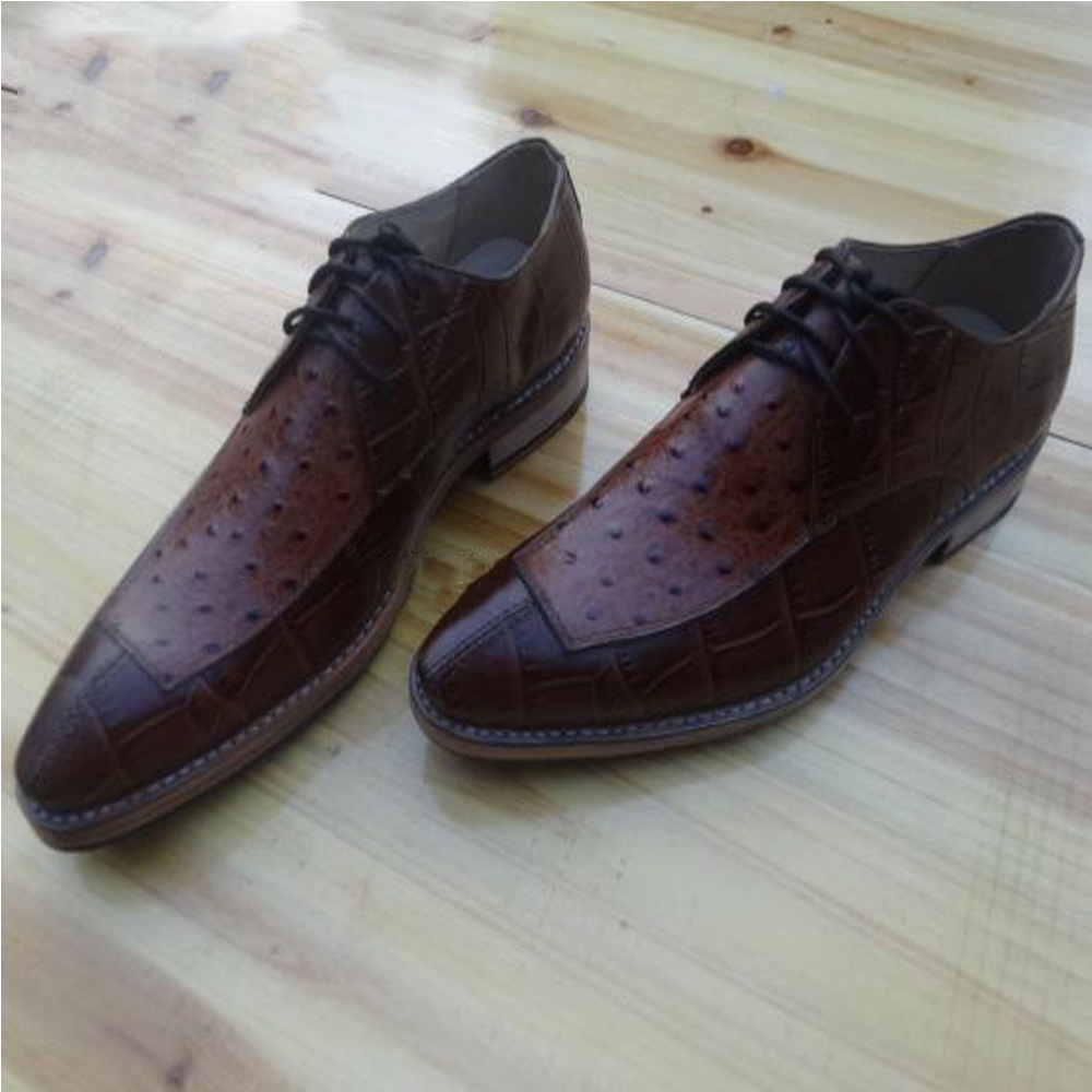 luxury mens goodyear welted shoes polka dot embossed