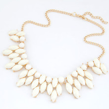 Fine Jewelry  Maxi Collares Statement Necklaces & Pendants Imitated Gemstone Collier Femme for Women Accessories 2016(China (Mainland))