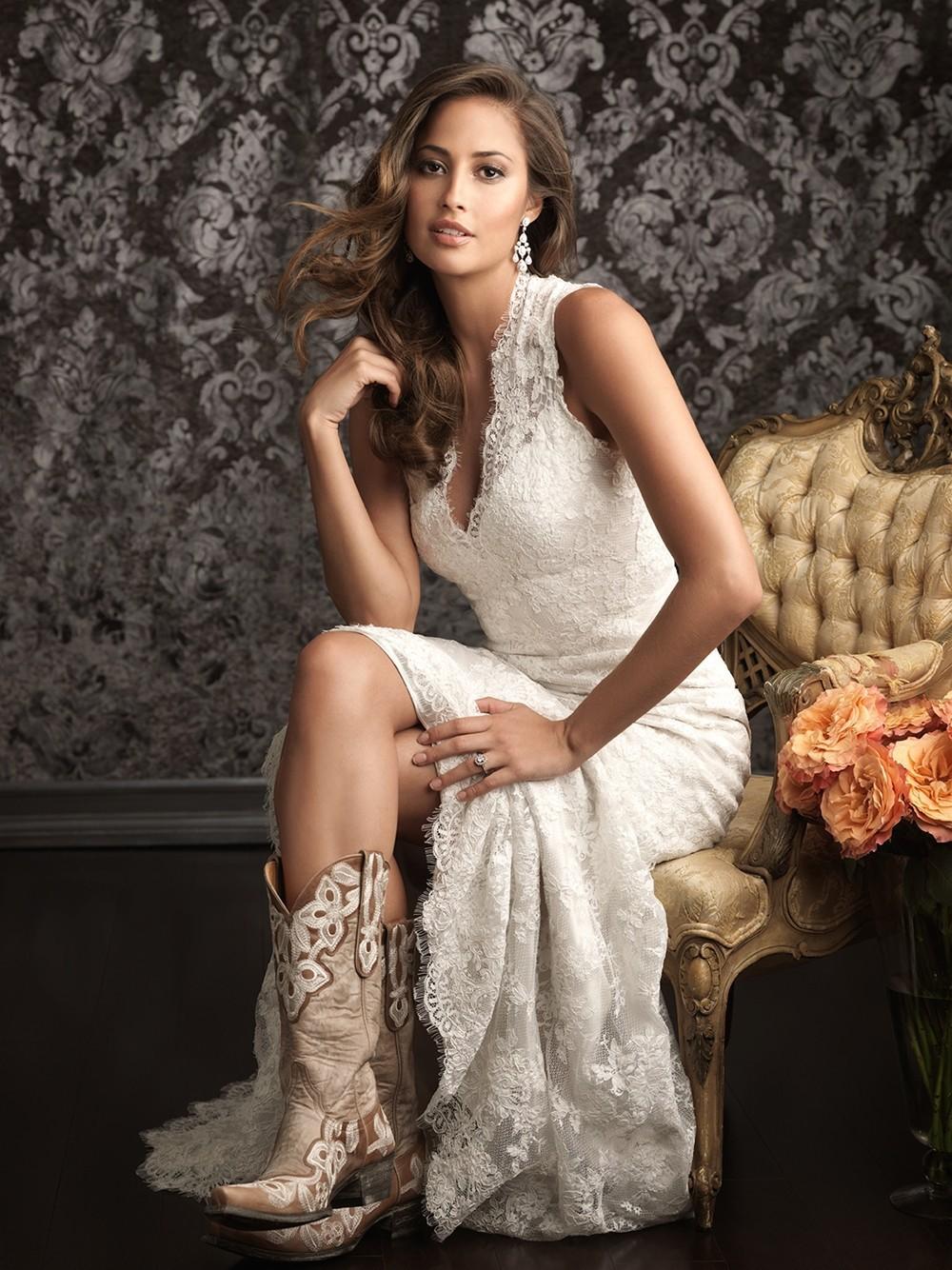 Vestidos de boda occidentales barato