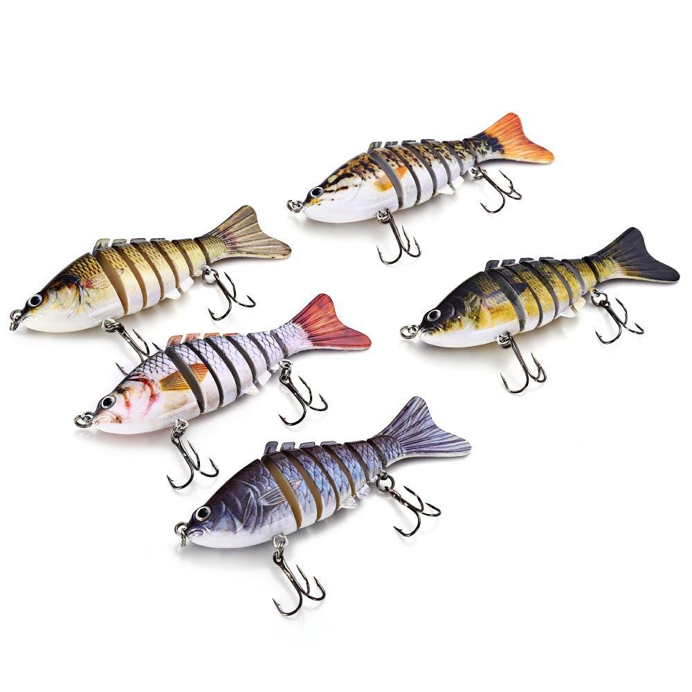 Fishing Wobblers 10cm 3D Eye Lifelike Fishing Lure 7 Segment Swimbait Crankbait Hard Bait Slow Isca Artificial Lures Fish Tackle(China (Mainland))
