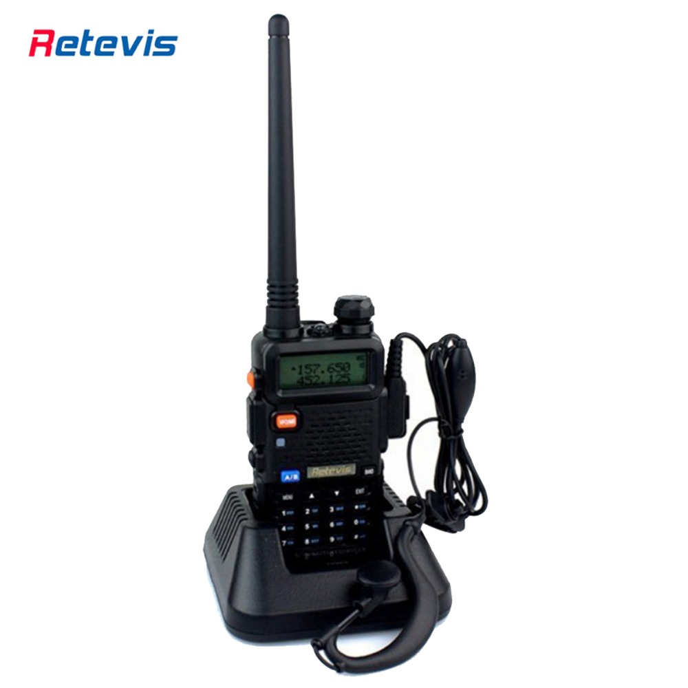 Retevis RT-5R Walkie Talkie 5W 128CH UHF+VHF Hf Transceiver Dual Band Radio Portable Ham Radio Two Way Radio DTMF A7105A(China (Mainland))