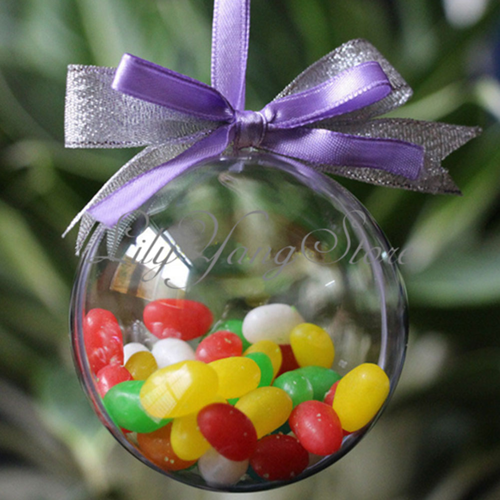 New 8cm Christmas Decoration Hanging Ball Baubles Round Bauble Ornament Xmas Tree Home Decor Christmas Tree Xmas(China (Mainland))