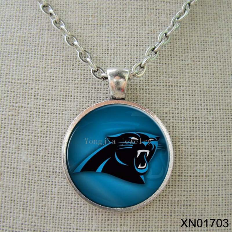 High quality vintage necklace jewelry vintage Carolina Panthers necklace NFL football jewelry(China (Mainland))