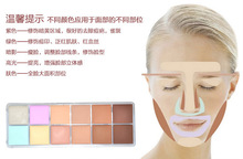NK3 2015 New Hot Sale Makeup nk 12 colors Natural Face Concealer Cosmetics NK 3 12color Palette make up set free shipping(China (Mainland))