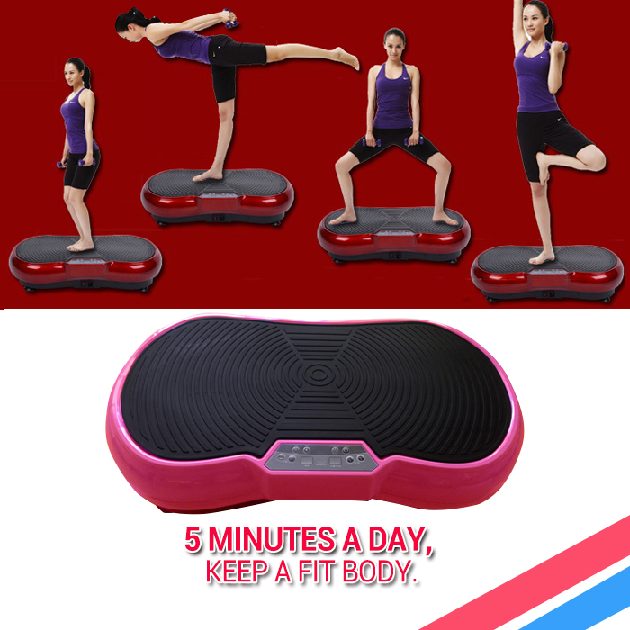 New arrival 180W standing type Body Fitness vibrating exercise weight loss slimming Machine Vibration plate Russia free shipping(China (Mainland))