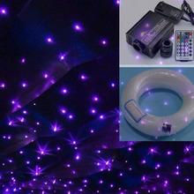 Buy 16W RGBW LED fiber optic light 0.75mm 100pcs*2m+100pcs*3m+250pcs*4m optical fiber cable end glow 28key remote control for $96.40 in AliExpress store