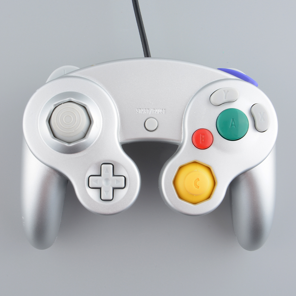 Wired Controller Gamepad Joystick Handheld For Nintendo Wii GameCube NGC Silver(China (Mainland))