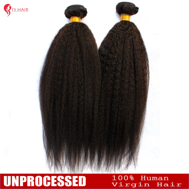 6A Unprocessed Indian Virgin Hair Yaki Straight 3PCS Lot Italian Yaki Straight Hair 10-26 inches Indian Kinky Human Hair Weaves