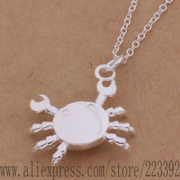 AN368 925 sterling silver Necklace 925 silver fashion jewelry pendant crab /epkangra hmraqdya(China (Mainland))