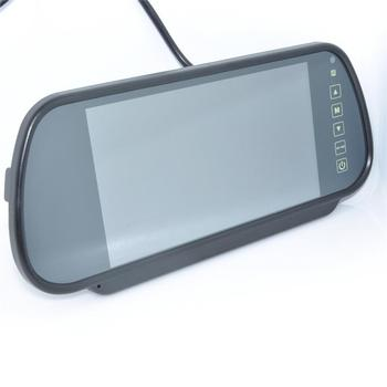 Free shipping Wholesale 7 inch Color TFT LCD Car Rearview Monitor Car Rearview Mirror Factory Selling 8