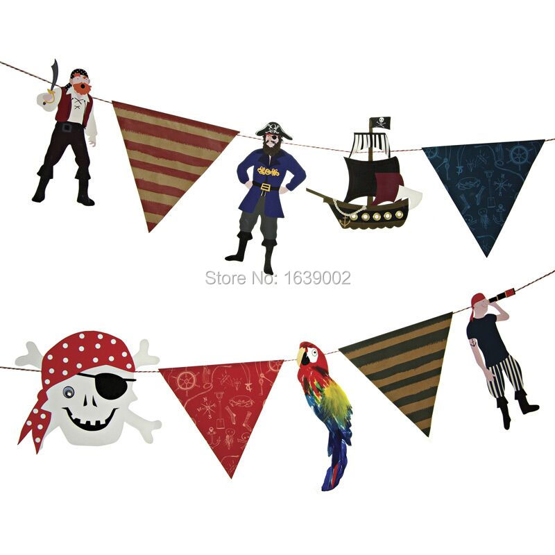 NEW Pirate Europe Style Festival Children Birthday Party Wedding Decoration Supplies Paper Banner(P-271)(China (Mainland))