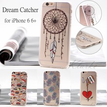 Dream Catcher Painted Phone Case for Iphone 6 Soft Silicone nutella chocolate Back Cover for Iphone 6s Plus Transparent Coque