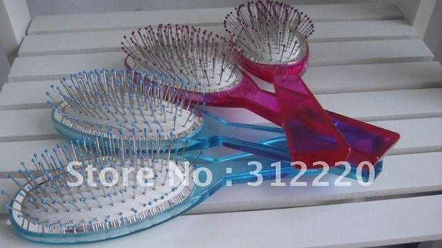 卸売高品質鋼ヘアブラシ, 12pcs/lot, 色: ピンク, blue+free送料,