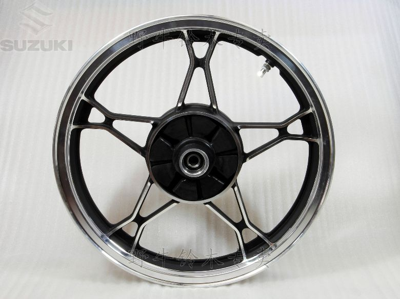 Free Shipping Motorcycle All Aluminum Alloy Rear Wheel Rim For Suzuki GN250(vacuum tyre can be used in)(China (Mainland))