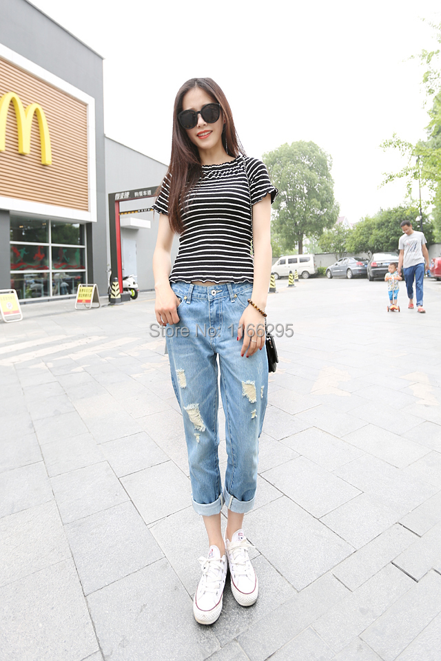 Excellent Fashion Embroidery Jeans Woman Lace Pencil Pants Hollow Ripped Jeans