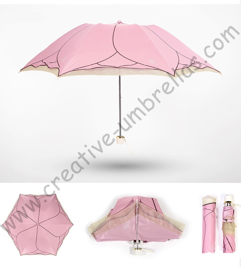 Ladies 39 summer lotus leaf rose flower upf 50 - Parasol anti uv 50 ...