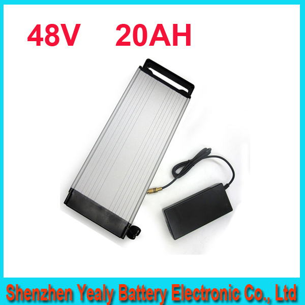 1000W 48V 20AH Electric Bicycle Battery 48V Lithium Battery 48V 20AH E-bike battery 30A BMS 2A charger free shipping(China (Mainland))