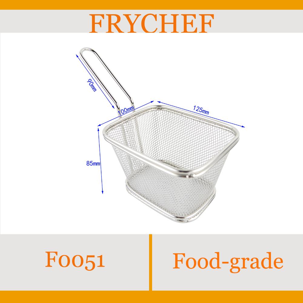 Frychef Food-grade 125x100x85mm Pratos Stainless steel 304,mini fry baskets(China (Mainland))
