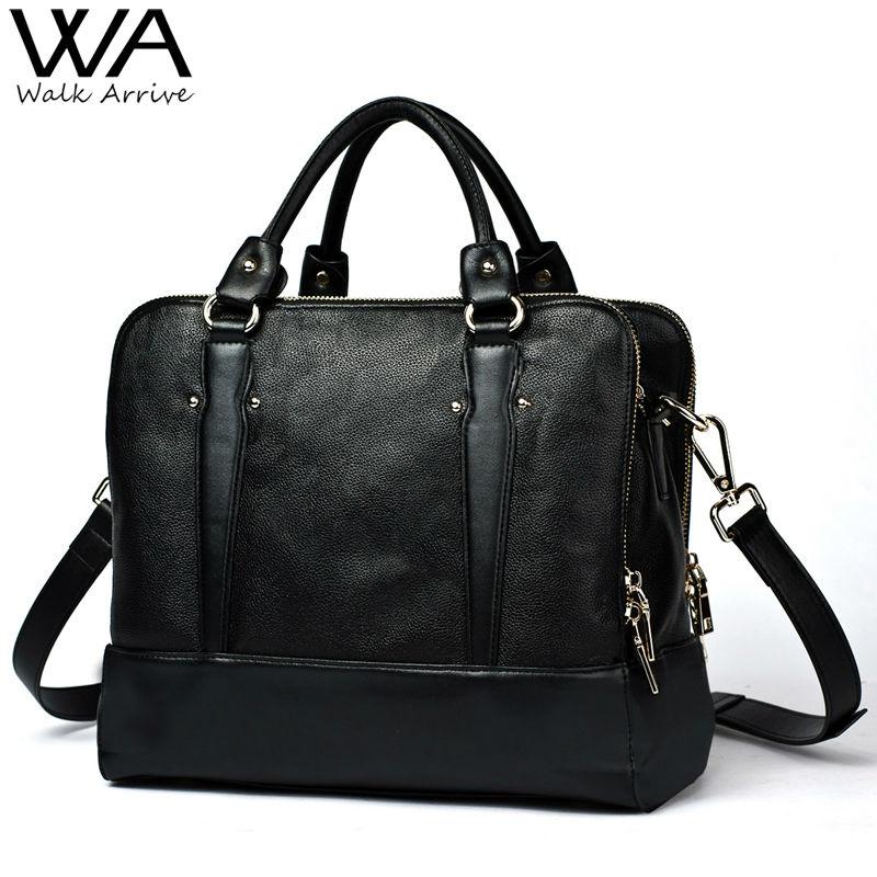 Genuine Leather Women Shoulder Bag Brand Design Handbag OL Bag Soft Leather Briefcases Tote Bag for Lady(China (Mainland))