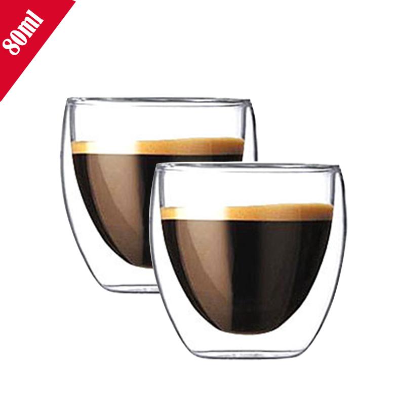 Set of 2pcs double wall heat resistant Bodum glass cup mug Caneca copos for tea/milk/juice(China (Mainland))
