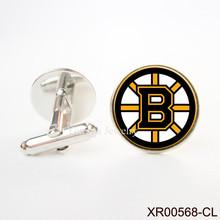 Boston Bruins NHL Hockey Cufflinks cufflinks luxury mens Copper Men Cuff Links Luxury Men Shirt Cuffs Button