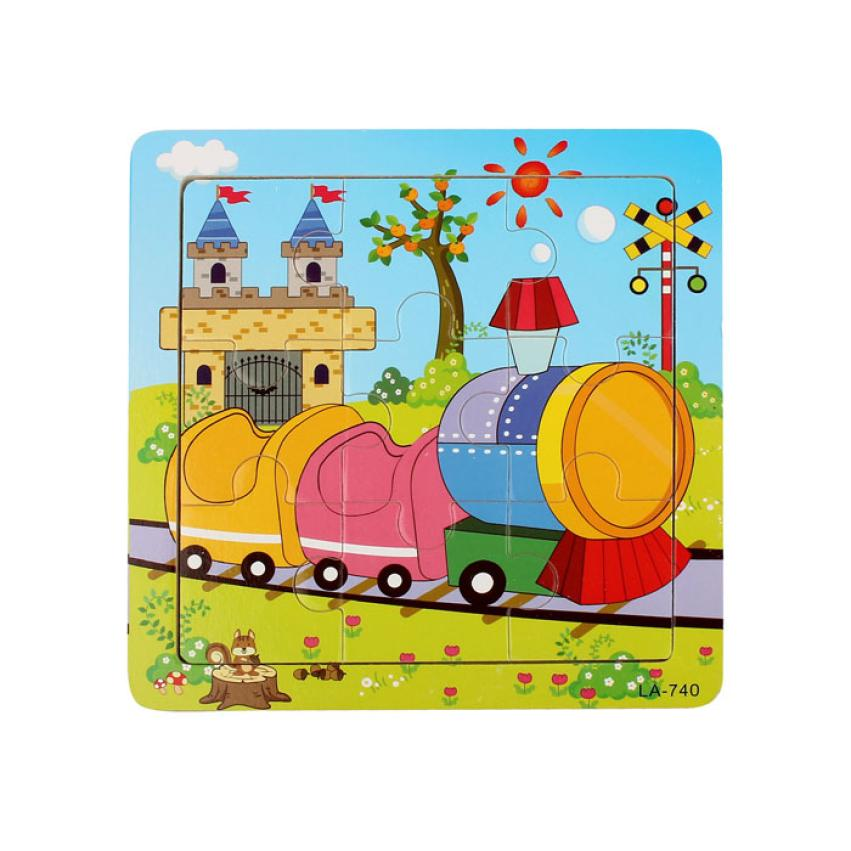 Wooden Train Puzzle Educational Developmental Baby Kids Training Toy(China (Mainland))