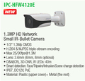 DAHUA 1 3MP HD Network Small IR Bullet Camera with 40M IR Distance Original English Version