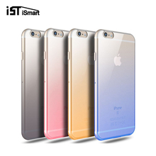 6/6s Plus Simple Gradient Color TPU Cover Case For Iphone 6 6s Plus Slim Back Protect Skin Rubber Phone Silicone Gel Back Cases