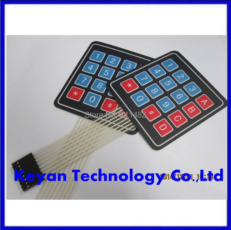 16 Key 4 x 4 Membrane Switch Keypad 4x4 4*4 Matrix Array Matrix keyboard for arduino smart car(China (Mainland))