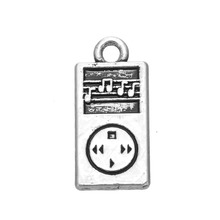 antique silver or gold plated MP3 Player charms for musical lover(China (Mainland))