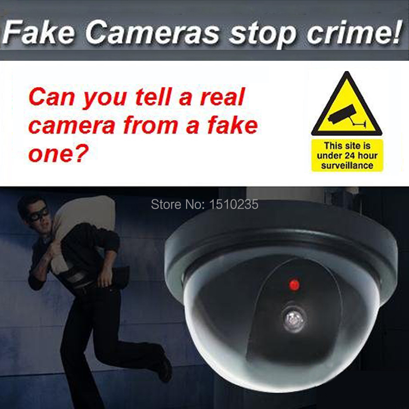 Dome Dummy Security CCTV Camera with Red Blinking LED Fake Motion Detector Sensor Emulational Waterproof camera Deter Robbery !!(China (Mainland))