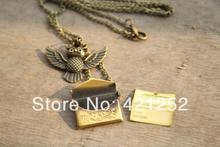 12pcs/lot Harry Potter Necklace,Owl Post Necklace with Hogwarts Acceptance Letter pendant locket necklace(China (Mainland))