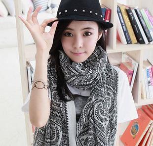 2016 Большой Размер 170*80 см Женщины Bohemia национальной тенденции осень и зима шарф женщин шелковый шарф геометрия ромб мыс