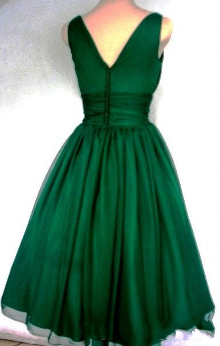 Emerald green party dress plus size