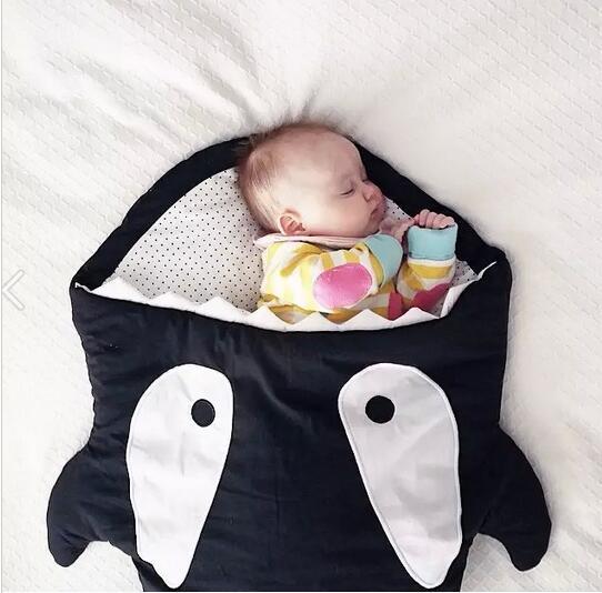 Акула спальный мешок новорожденных спальный мешок зима коляски кровать пеленать одеяло ...