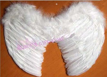 FREE SHIPPING White Feather wing/Angel wing/Fairy wing/Party accessories/Performance accessories S:40*33cm 10pcs/lot