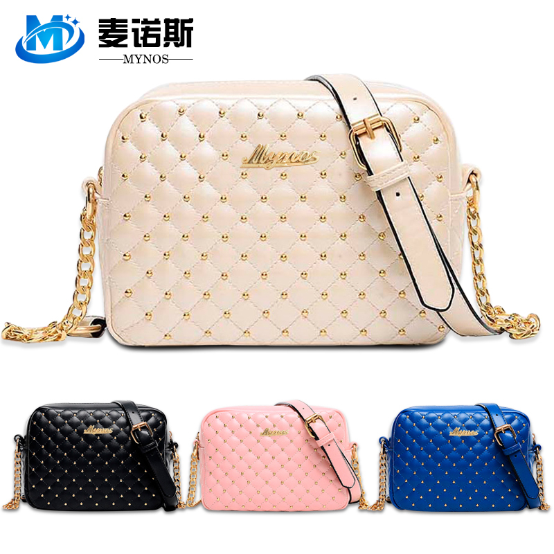 2015 Designer Rivets Women Leather Crossbody Bag For Women Messenger Bag Ladies Chain Shoulder Bag Bolsas Feminina Women Handbag(China (Mainland))