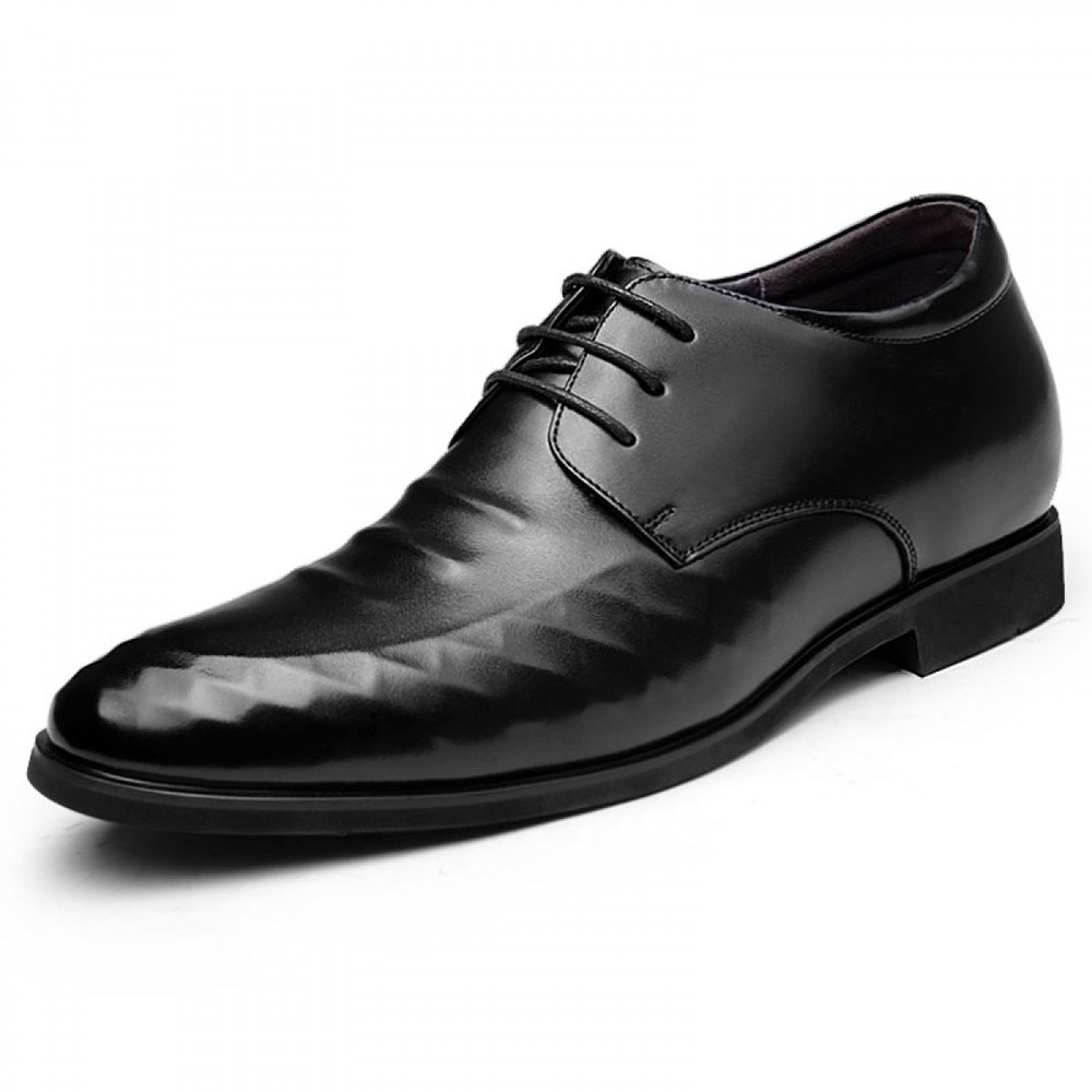 elevator lace up formal dress shoes add height 8cm / 3 ...