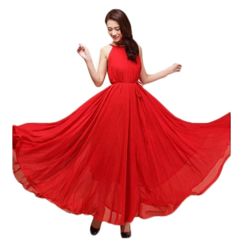 Long Formal Ball Gown Night kingdom dress Women's Maxi Casual Beach Chiffon Dress - Fashion World's store