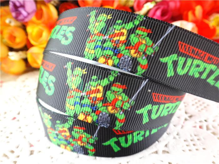 2014 7/8 inch (22mm) Teenage Mutant Ninja Turtles printed grosgrain ribbons cartoon ribbon 50 yards WQ14062821 - Anne Store store