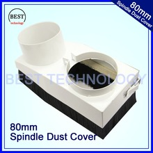 Diameter 80mm CNC Rounter Vacuum Cleaner Spindle Dust Cover Dust protection for CNC woodworking engraving machine Dustproof !!(China (Mainland))