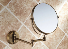Hot Sale Bathroom Anti-bronze Wall Mounted 8 inch Brass 3X/1X Magnifying Mirror Folding Makeup Mirror Cosmetic Mirror Lady Gift(China (Mainland))