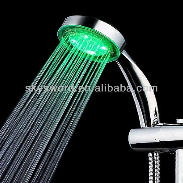 Bath Shower Faucet ABS LED Handheld Shower