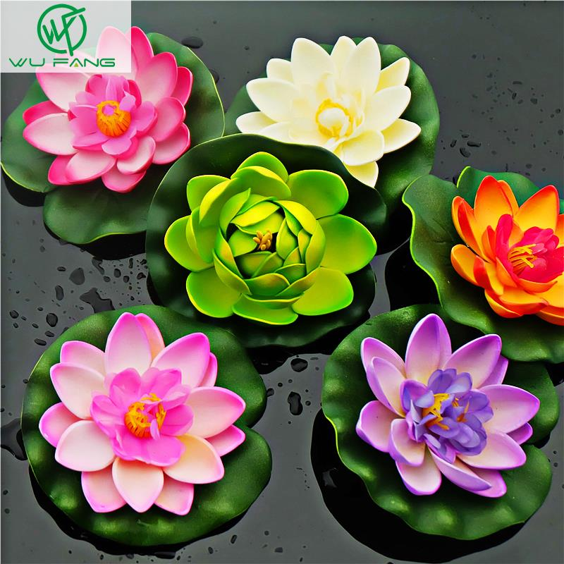 Water lily lotus artificial silk plastic flowers | WedDirect ...