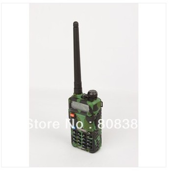 Free Shipping two way radio walkie talkie BAOFENG UV-5R camouflage colour dual band 136-174&400-520mHZ with FREE PTT EARPHONE