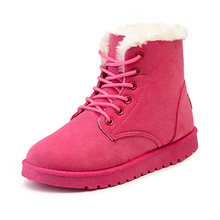 winter boots 2015 fashion women boots shoes women casual mid-calf boots Matte suede snow boots cotton padded high warm platform(China (Mainland))