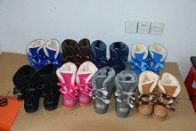 No australia arco bailey nieve botas cálidas botas de invierno para mujer en piel de vaca cuero genuino señora women winter ug botas zapatos de la nieve(China (Mainland))