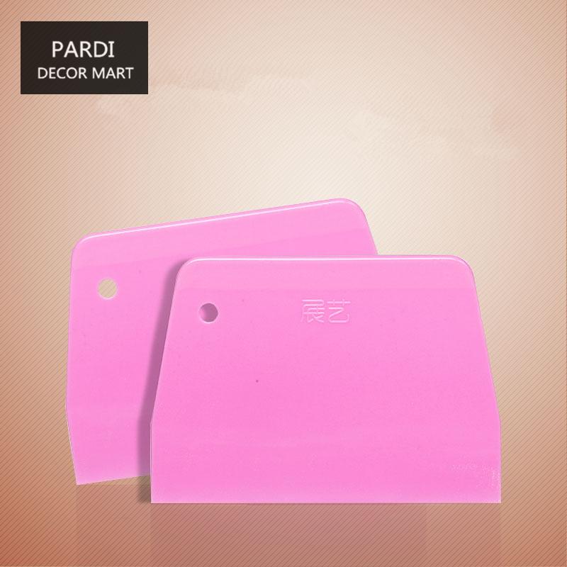 Green Pink Hard Plastic scraper pastry cutters oil scraper 1pc/lot(China (Mainland))